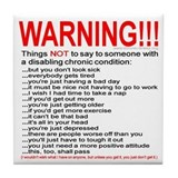 Chronic Condition Warning Tile Coaster