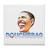 Obama Douche Tile Coaster