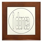 I Dance Framed Tile