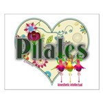 PIlates Fanciful Flowers Small Poster