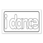 I Dance Rectangle Sticker