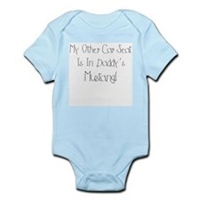 Daddy's Mustang Baby Bodysuit Onesie