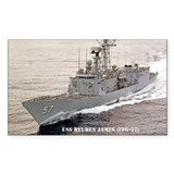 USS REUBEN JAMES Rectangle Sticker 10 pk)