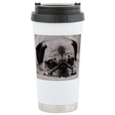 Pug Ceramic Travel Mug
