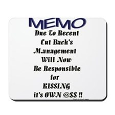 """Office Memo"" Mousepad"