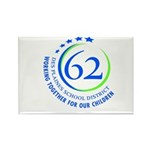 District 62 Rectangle Magnet (100 pack)