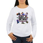 Cap'n Wacky World Souvenir Women's Long Sleeve T-S