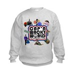 Cap'n Wacky World Souvenir Kids Sweatshirt
