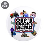 "Cap'n Wacky World Souvenir 3.5"" Button (10 pack)"