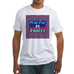 Pray For Haiti Fitted T-Shirt