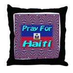 Pray For Haiti Throw Pillow