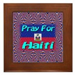 Pray For Haiti Framed Tile