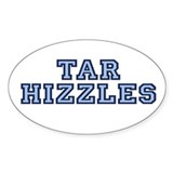 North Carolina Tarhizzles Oval Sticker (10 pk)