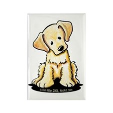 Lab Retriever Puppy Rectangle Magnet (10 pack)