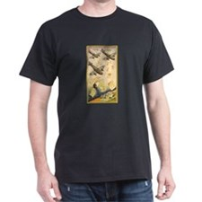 Shana Tova Planes Black T-Shirt