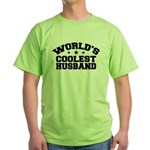 World's Coolest Husband Green T-Shirt