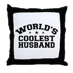 World's Coolest Husband Throw Pillow