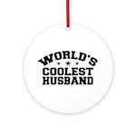 World's Coolest Husband Ornament (Round)