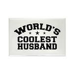 World's Coolest Husband Rectangle Magnet