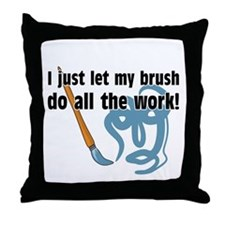 Brushwork Throw Pillow