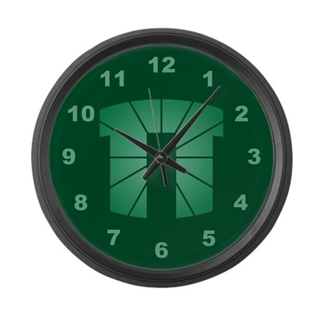 Green Pi Large Wall Clock
