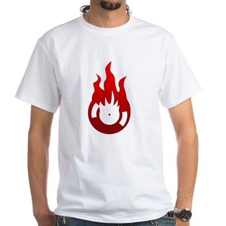 Melted Vinyl White T-Shirt