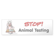 Animal Testing Bumper Bumper Sticker