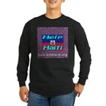 Help Haiti With Prayer Long Sleeve Dark T-Shirt