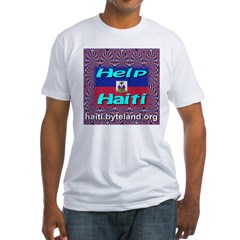 Help Haiti With Prayer Fitted T-Shirt