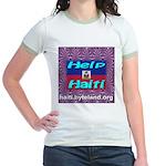 Help Haiti With Prayer Jr. Ringer T-Shirt