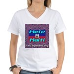 Help Haiti With Prayer Women's V-Neck T-Shirt