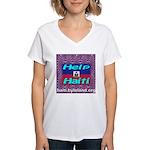 Help Haiti With Prayer Women's V-Neck T-Shirt