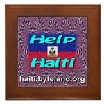Help Haiti With Prayer Framed Tile