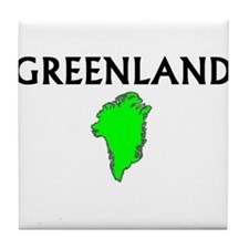 Cute Greenland travel Tile Coaster