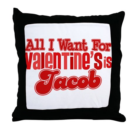 Jacob Valentine Throw Pillow