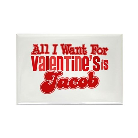 Jacob Valentine Rectangle Magnet