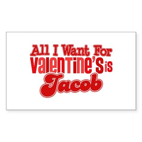 Jacob Valentine Rectangle Sticker