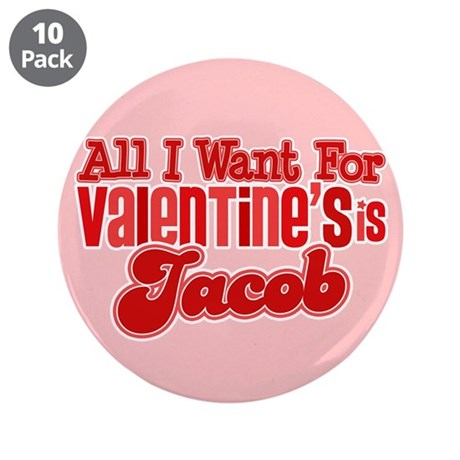 "Jacob Valentine 3.5"" Button (10 pack)"