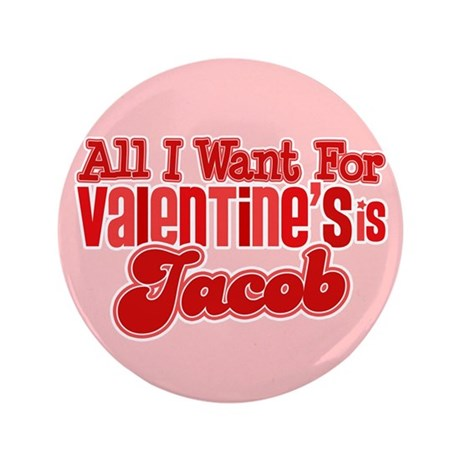 "Jacob Valentine 3.5"" Button (100 pack)"