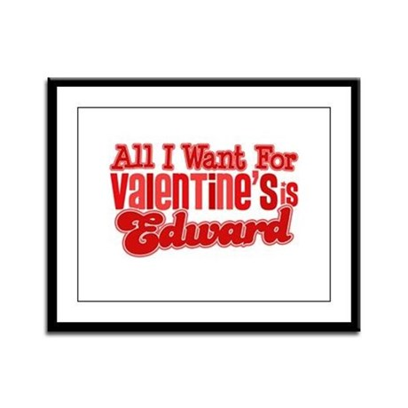 Edward Valentine Framed Panel Print