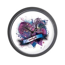Twilight Valentwine Silhouette Wall Clock