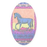 Caballito Azul Oval Decal