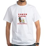 I love cats (hate cats) White T-Shirt