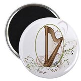 "Cute Harp 2.25"" Magnet (10 pack)"