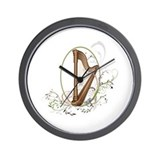 Unique Harp Wall Clock