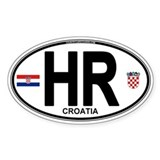 Croatia Euro Oval Decal