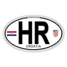 Croatia Euro Oval Decal