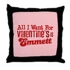 Emmett Valentine Throw Pillow