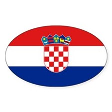 Croatian Flag Oval Decal