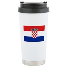 Croatian Flag Ceramic Travel Mug
